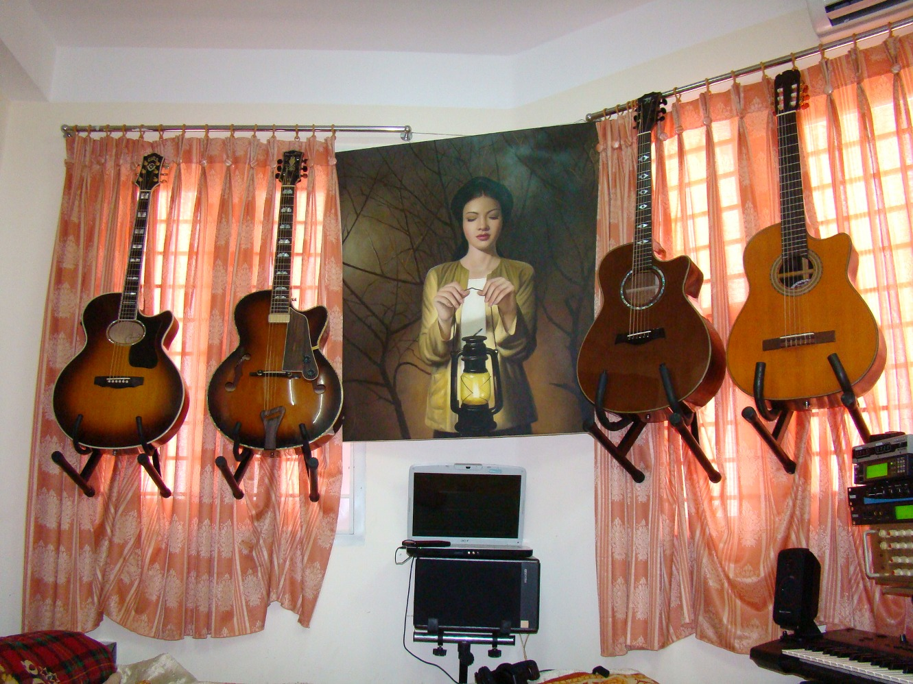 Hang Guitar On Wall how to hang guitars without wall hangers | harmony central
